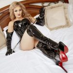 dominatrix Tgirl in live sex chat session